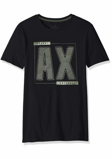 A|X Armani Exchange Men's Short-Sleeve Metallic AX Graphic T-Shirt  L