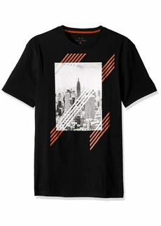 A|X Armani Exchange Men's Short Sleeve NYC Skyline Graphic T-Shirt  M