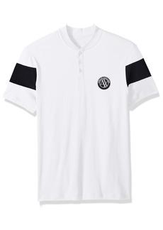A|X Armani Exchange Men's Short Sleeve Organic Cotton Polo Shirt  L