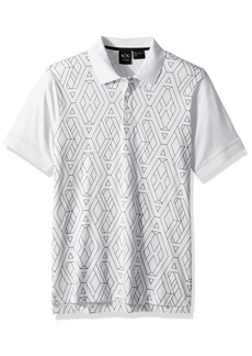 A|X Armani Exchange Men's Short Sleeve Polo Shirt  L