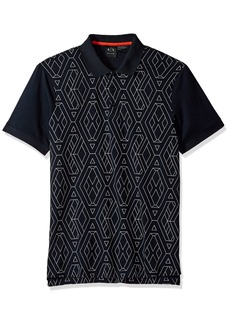 A|X Armani Exchange Men's Short Sleeve Polo Shirt  M