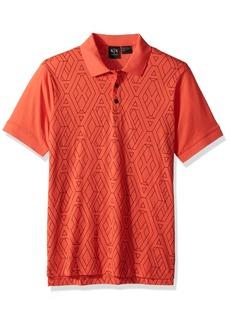 A|X Armani Exchange Men's Short Sleeve Polo Shirt  M
