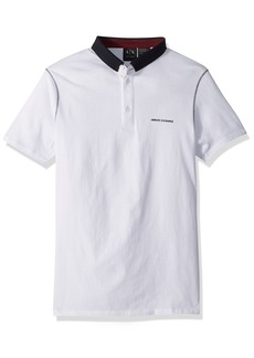 A|X Armani Exchange Men's Short Sleeve Polo Shirt with Solid Collar  XXL