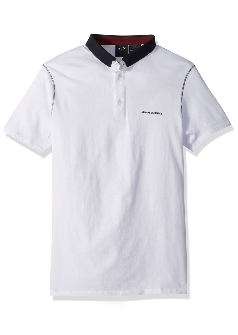 cf11df33 A|X Armani Exchange Men's Short Sleeve Polo Shirt with Solid Collar XXL