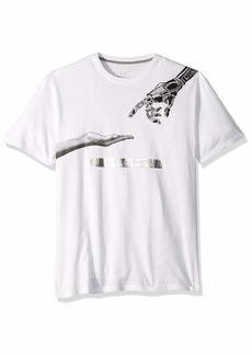 A|X Armani Exchange Men's Short-Sleeve Reaching Robot Graphic T-Shirt  L