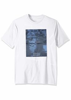 A|X Armani Exchange Men's Short Sleeve Screen Print T-Shirt  M