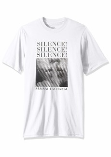 A|X Armani Exchange Men's Short Sleeve 'Silence' Graphic T-Shirt  XL