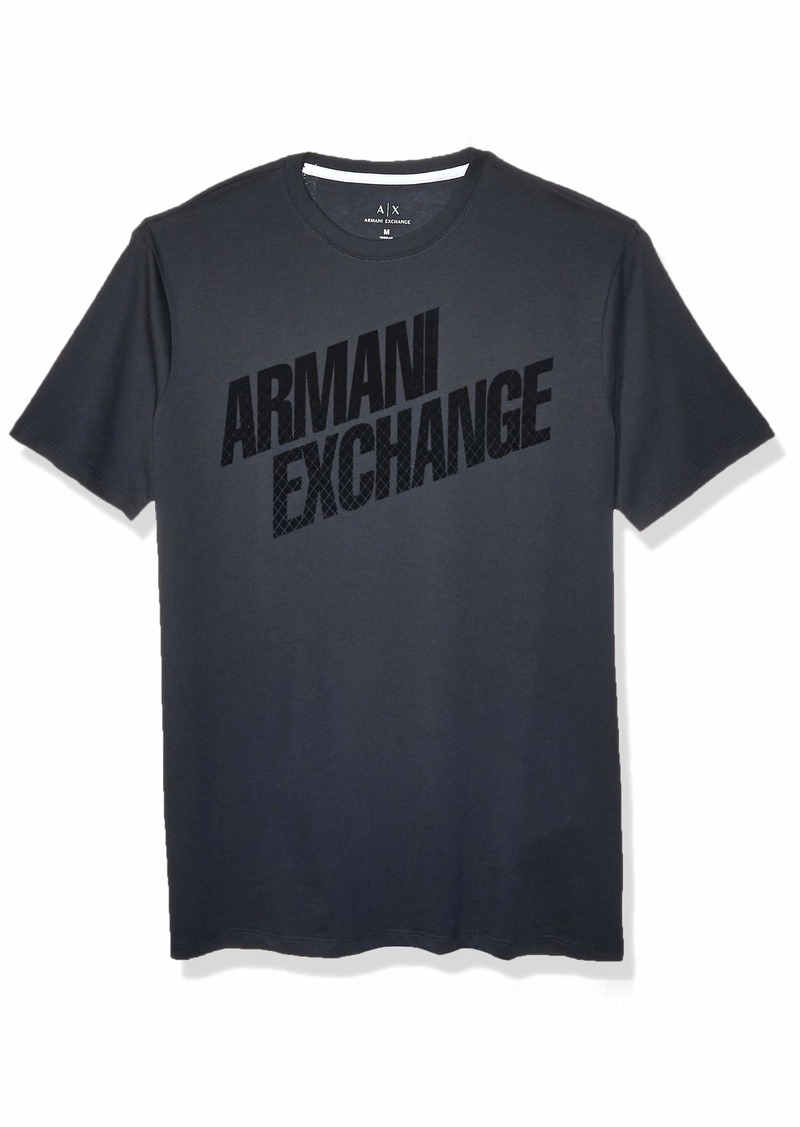 A|X Armani Exchange Men's Short Sleeve Tonal Logo T-Shirt  M