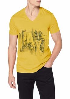 A|X Armani Exchange Men's Short Sleeve V-Neck  Graphic Logo T-Shirt  L