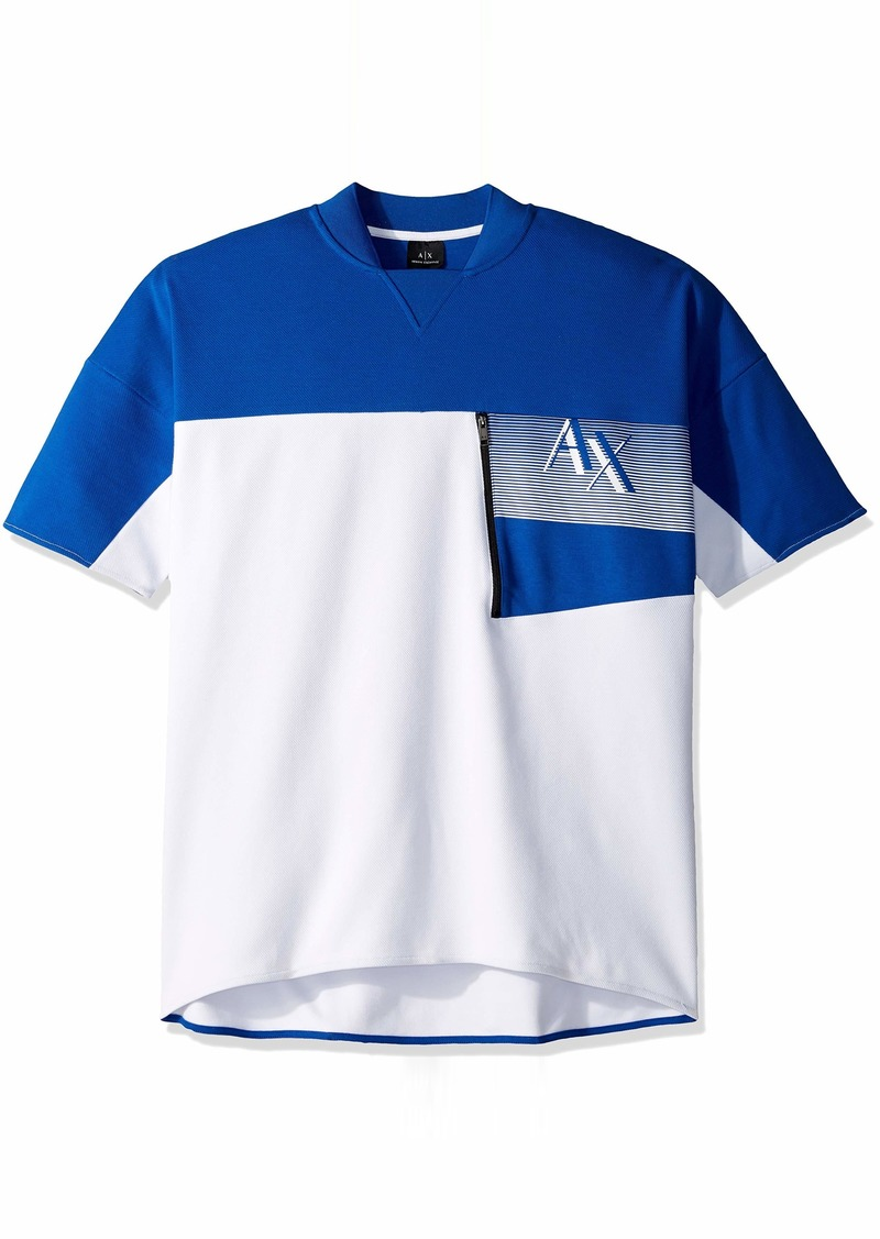 A|X Armani Exchange Men's Short-Sleeve Zipper Pocket Sweatshit  M