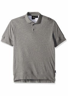 A|X Armani Exchange Men's Short-Sleeved Cotton Button-Collar Polo with Trim  M