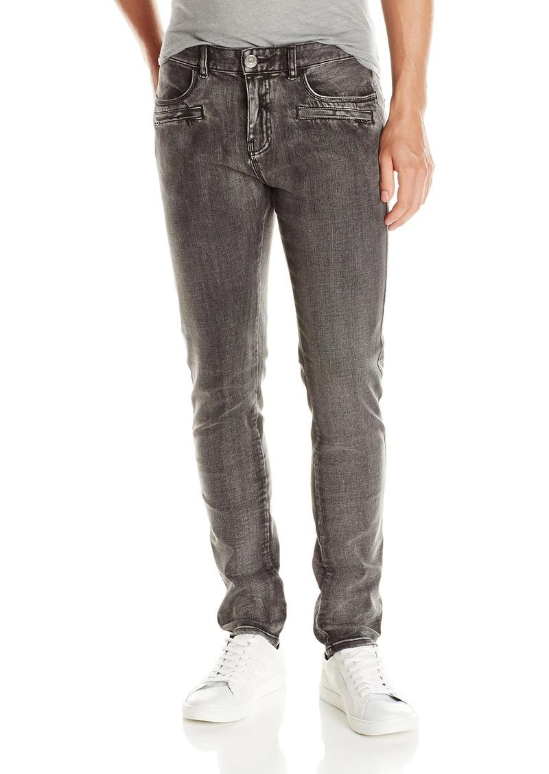 A|X Armani Exchange Men's Slim Fit Grey Moto Jean
