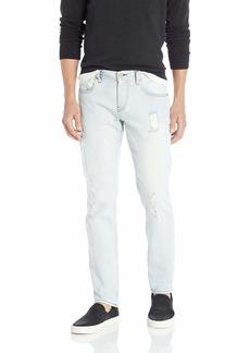 A|X Armani Exchange Men's Slim Light Wash Destroyed Jeans