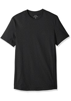 A|X Armani Exchange Men's Slim Solid tee with Logo BROS BN85 HTR Charco S
