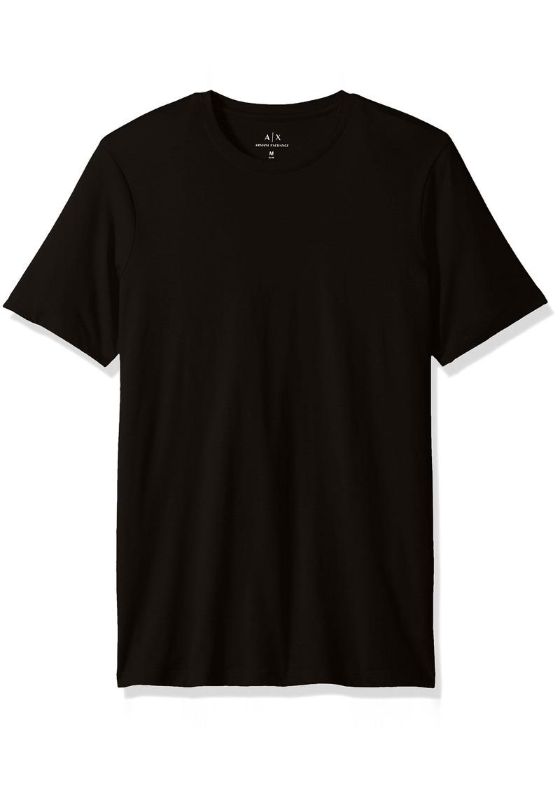 A|X Armani Exchange Men's Solid Colored Basic Pima Crew Neck
