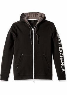 A|X Armani Exchange Men's Solid Colored Zip up Sweatshirt  XXL
