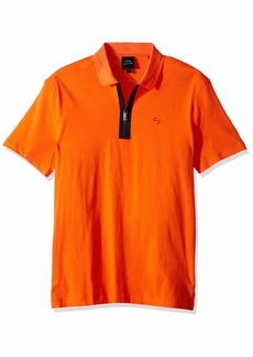 A|X Armani Exchange Men's Solid Colored Zipper Polo Shirt  XL