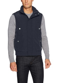 A|X Armani Exchange Men's Solid Puffer Vest with Removable Hood