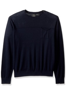 A|X Armani Exchange Men's Solid Pullover  M