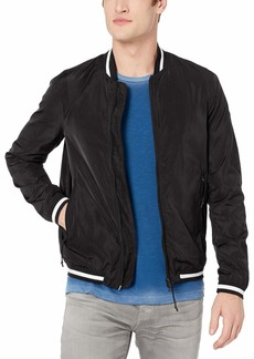 A|X Armani Exchange Men's Solid Unpadded Nylon Bomber Jacket  L