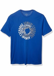 A|X Armani Exchange Men's Spiral Logo Crew Neck T-Shirt  L