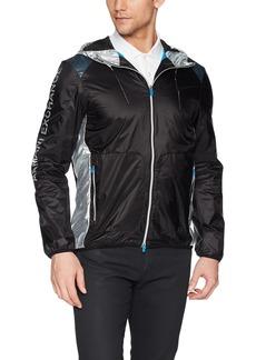 A|X Armani Exchange Men's Sportswear Jacket with Color Blocking  L