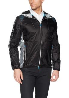 A X Armani Exchange Men's Sportswear Jacket with Color Blocking  M