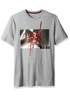 A|X Armani Exchange Men's SS Graphic Fun Logo T-Shirt  L