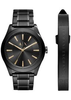AX Armani Exchange Men's Stainless Steel Bracelet Watch 44mm AX7102 Gift Set