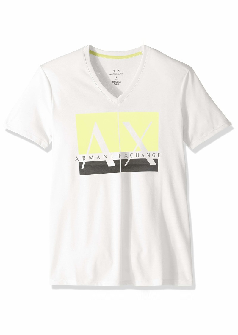A|X Armani Exchange Men's Stamp AX Logo tee  XXL