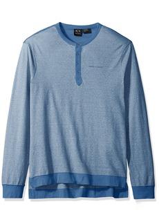 A|X Armani Exchange Men's Stripe Ls Henley Jersey