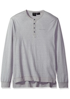 A|X Armani Exchange Men's Stripe Ls Henley Jersey