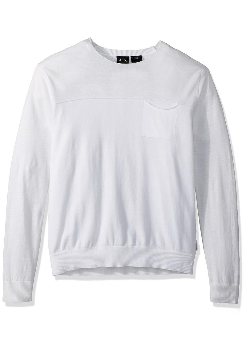 A|X Armani Exchange Men's Stripe Sleeve pulloever  L