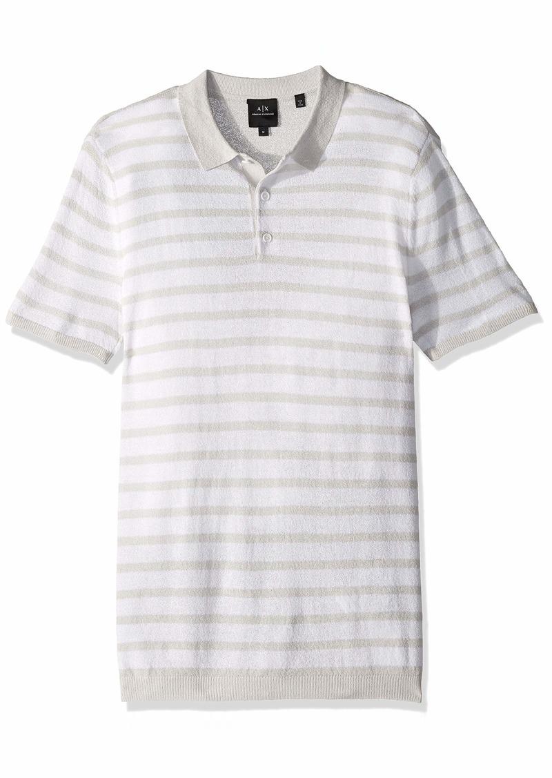 A|X Armani Exchange Men's Striped Polo Shirt  M