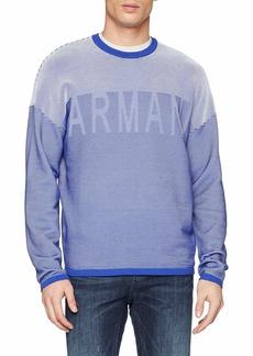 A|X Armani Exchange Men's Striped Pullover Sweater  M