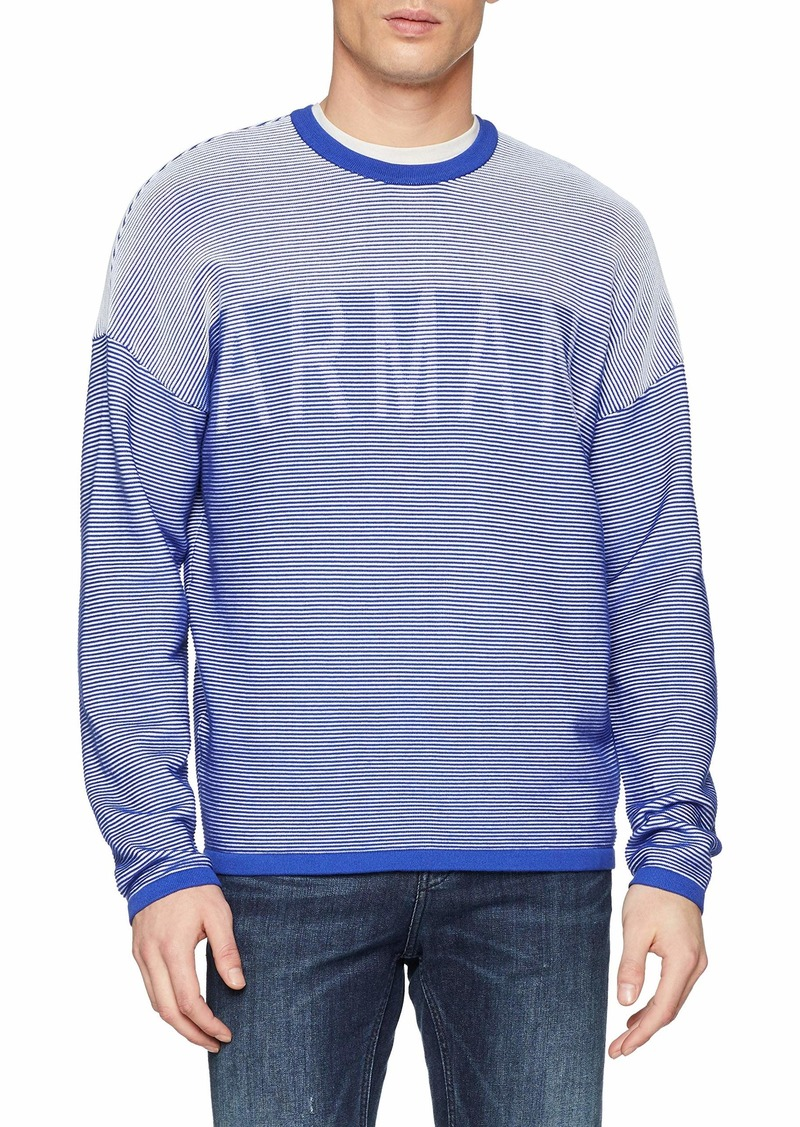 A|X Armani Exchange Men's Striped Pullover Sweater  M