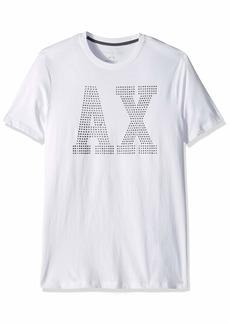 A|X Armani Exchange Men's Stud AX Logo tee  M