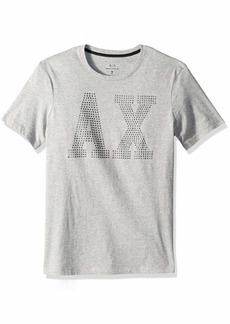 A|X Armani Exchange Men's Stud AX Logo tee  L