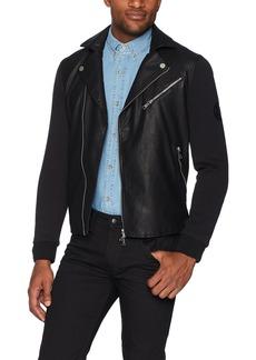 A X Armani Exchange Men's Stud Moto Coated Jacket  S