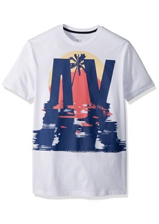 A|X Armani Exchange Men's Sunset Palm tee  XXL