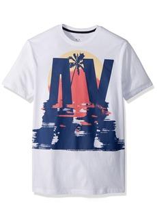 A|X Armani Exchange Men's Sunset Palm tee  XXL