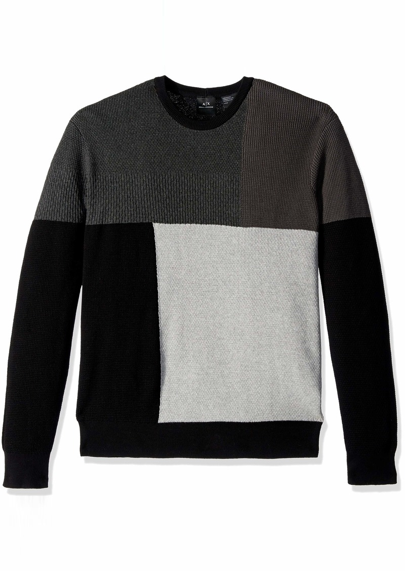 A|X Armani Exchange Men's Sweater Brush Black/Magnet/BN XL