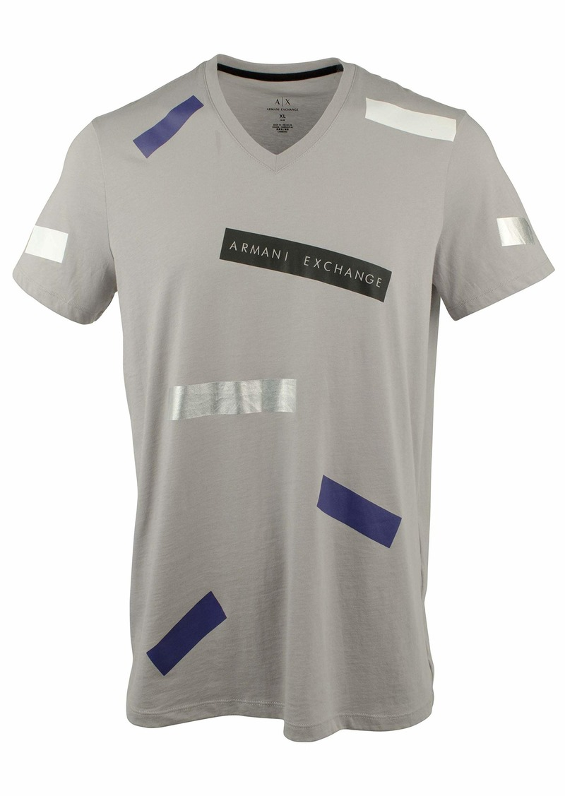 A|X Armani Exchange Men's Tape Graphic Logo tee  XL