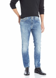A|X Armani Exchange Men's Tapered Acid Wash Jeans