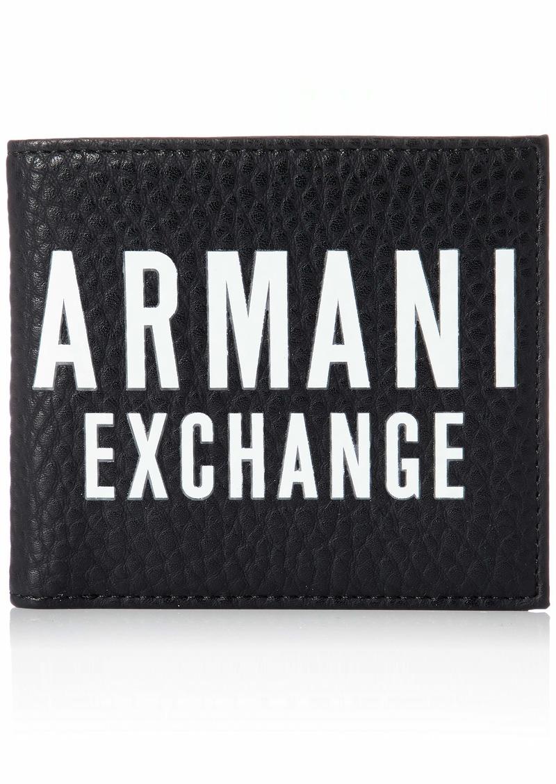 A|X Armani Exchange Men's Textured Billfold Wallet black