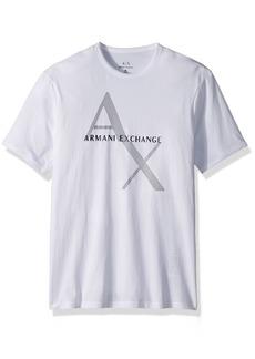 A|X Armani Exchange Men's Tonal and Contrast Logo Core Crew Neck  XL