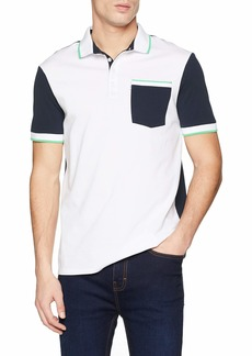 A|X Armani Exchange Men's Two Toned Cotton Polo Shirt  M