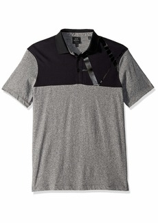 A|X Armani Exchange Men's Two Toned Short-Sleeve Polo Shirt BABA074HTR Grey+ BLA S