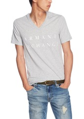 A|X Armani Exchange Men's V Neck Cotton Logo Shirt  M
