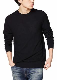 A|X Armani Exchange Men's Woven Cotton/Cashmere Crew Neck Pullover  M